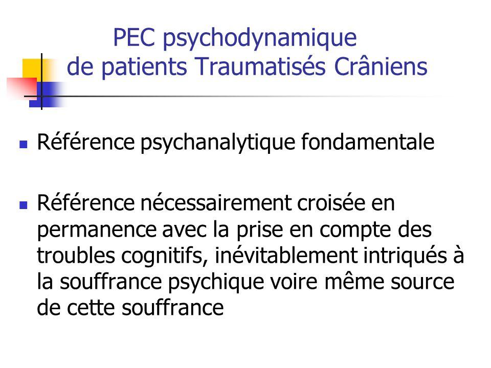 PEC psychodynamique de patients Traumatisés Crâniens