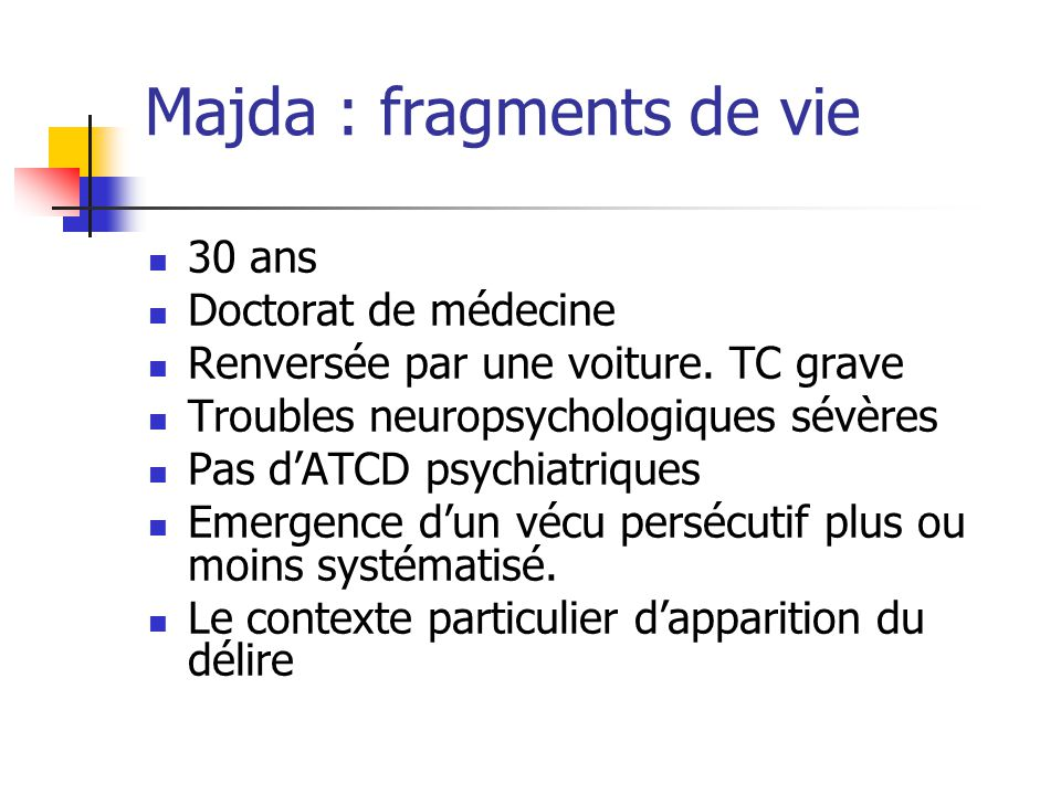 Majda : fragments de vie