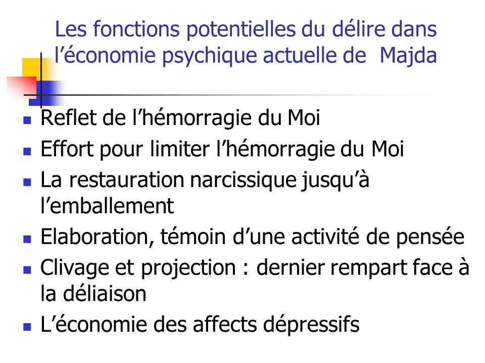 Les fonctions potentielles du délire dans l'économie psychique actuelle de Majda