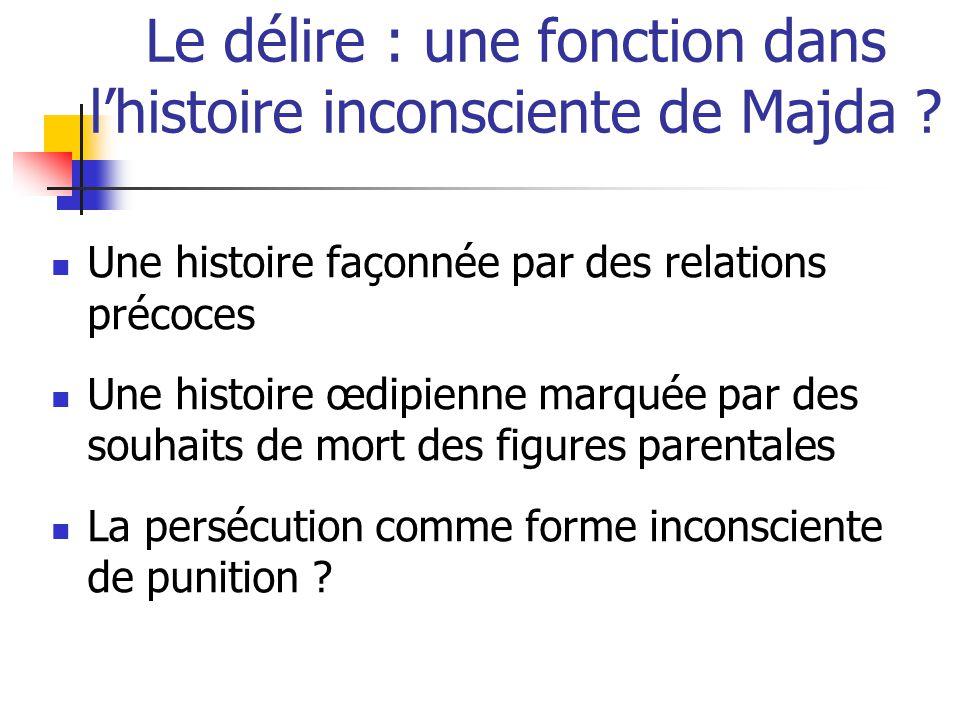 Le délire : une fonction dans l'histoire inconsciente de Majda