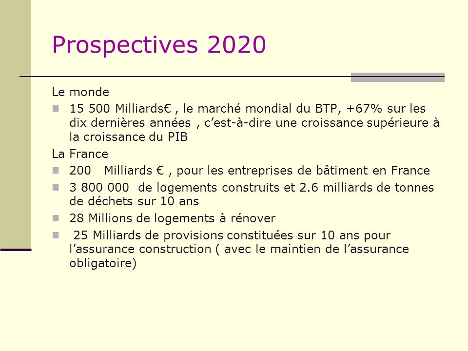 Prospectives 2020Le monde.