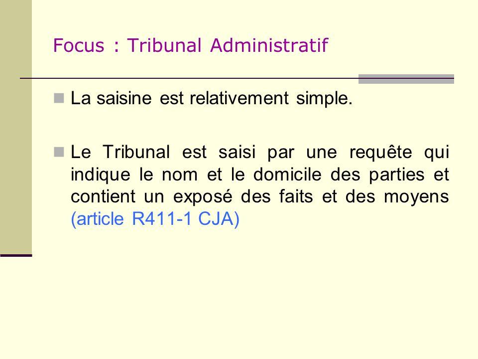 Focus : Tribunal Administratif