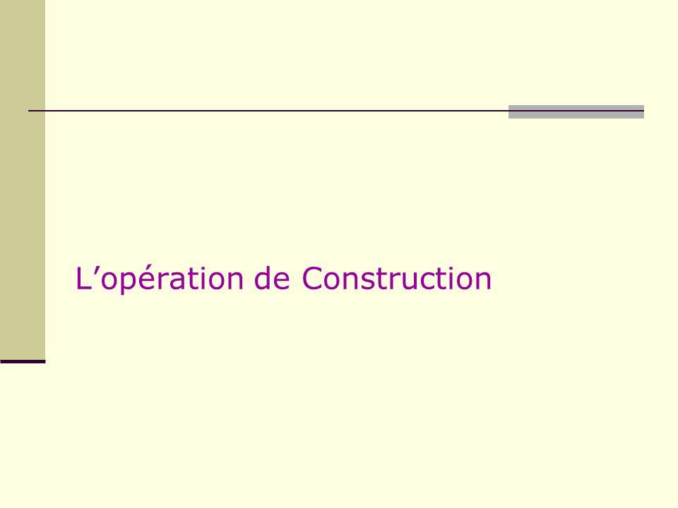 L'opération de Construction