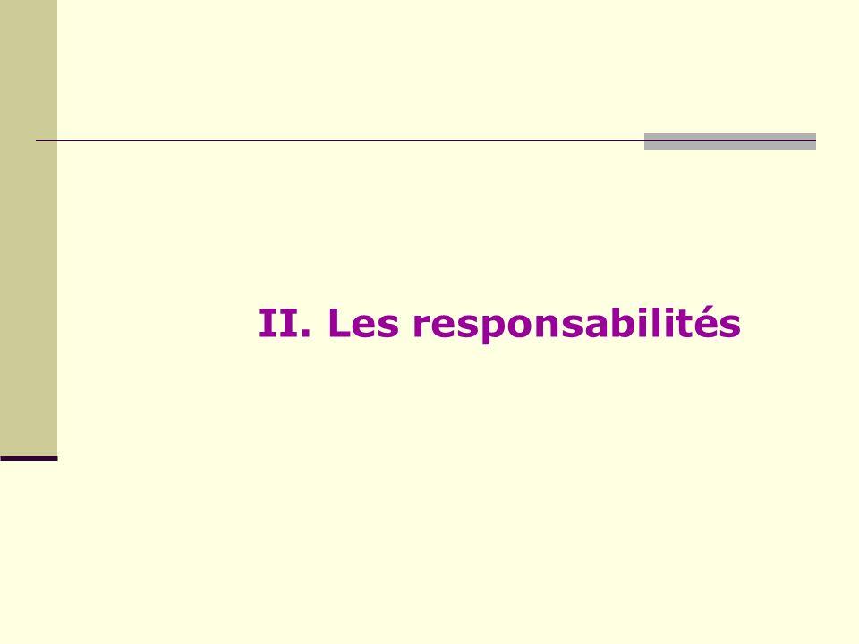 II. Les responsabilités