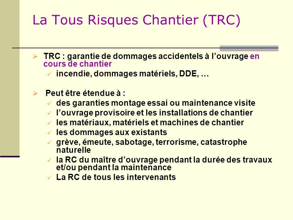 La Tous Risques Chantier (TRC)
