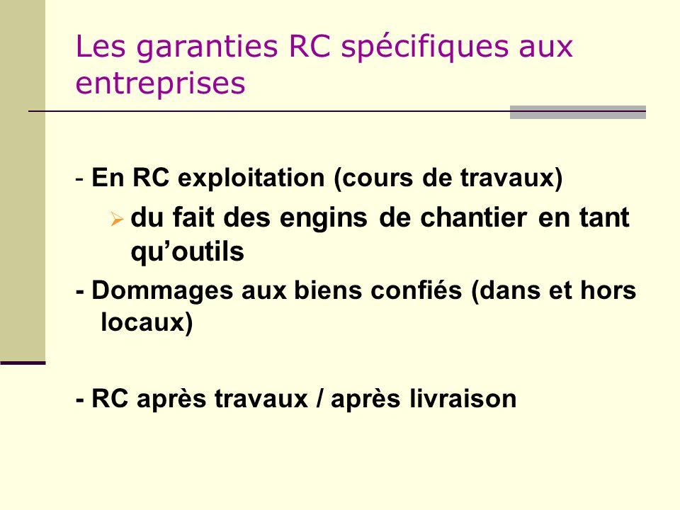 Les garanties RC spécifiques aux entreprises