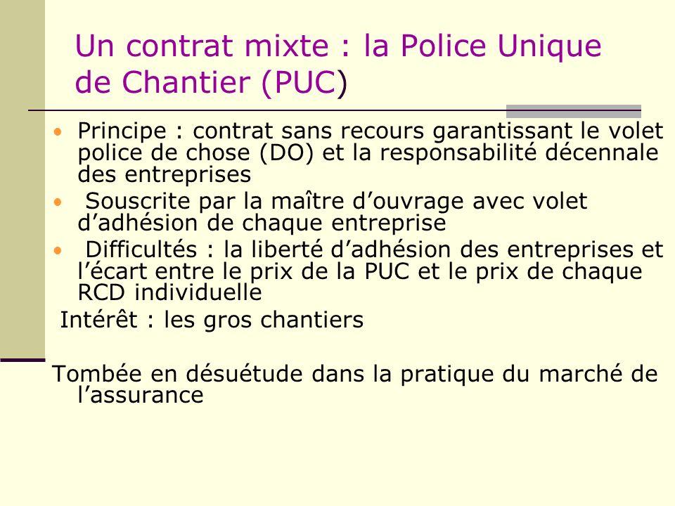 Un contrat mixte : la Police Unique de Chantier (PUC)