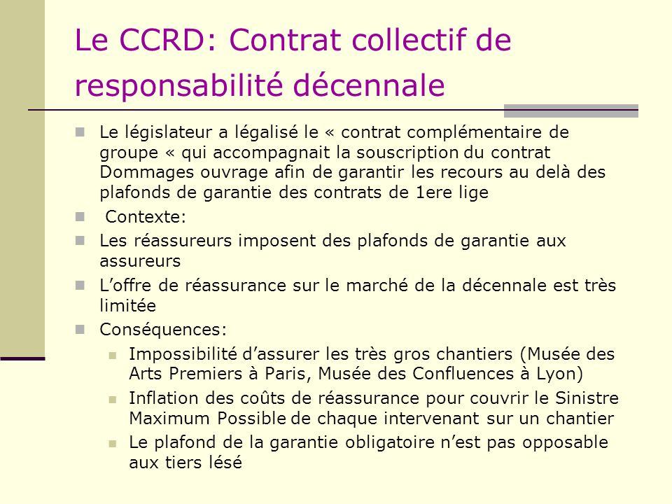 Le CCRD: Contrat collectif de responsabilité décennale