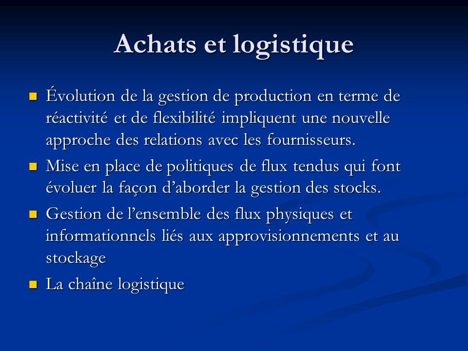 Achats et logistique