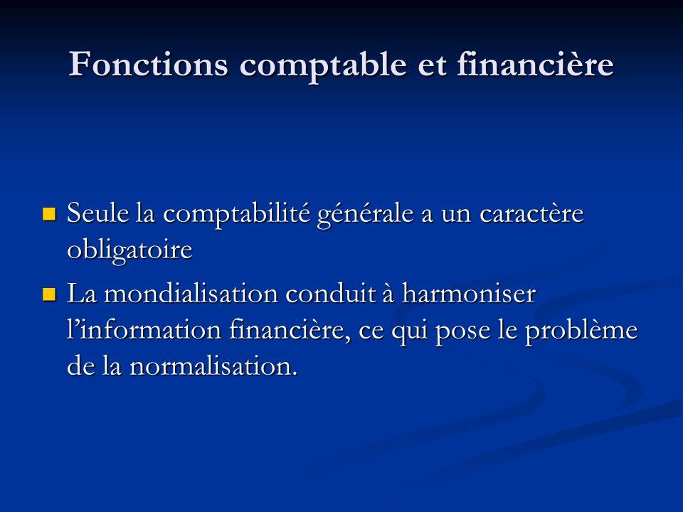 Fonctions comptable et financière