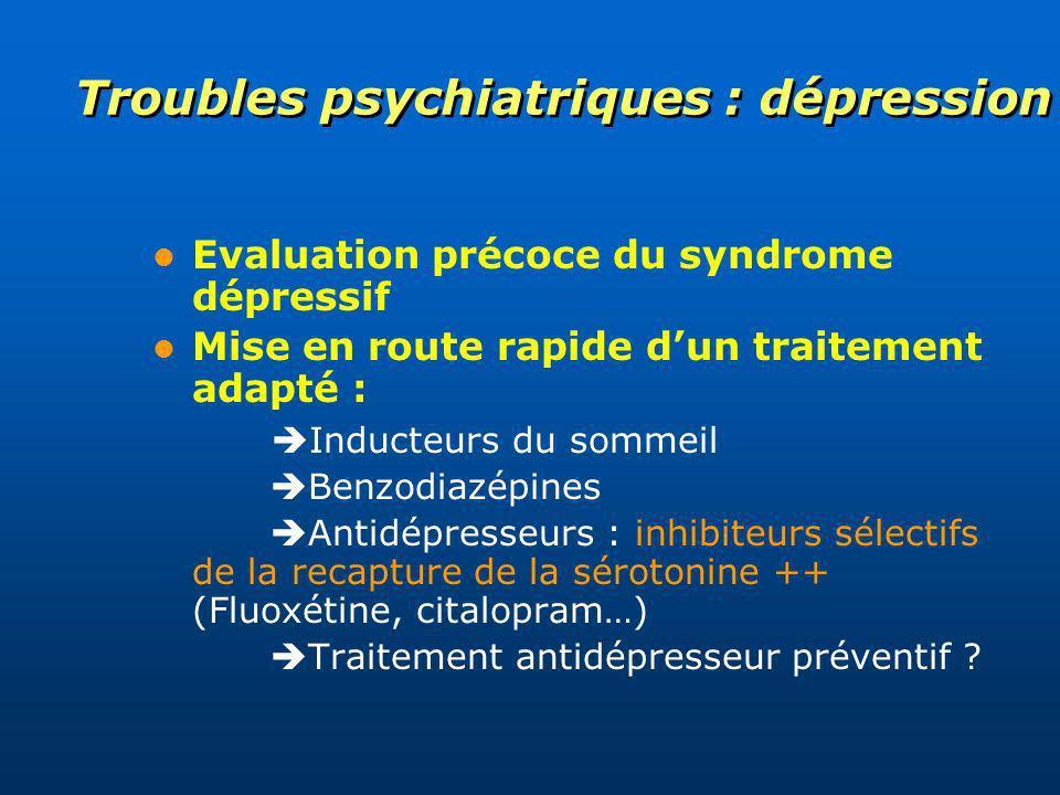 Troubles psychiatriques : dépression