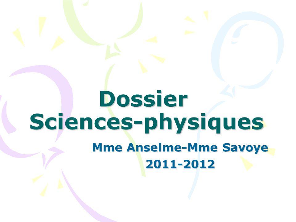 Dossier Sciences-physiques