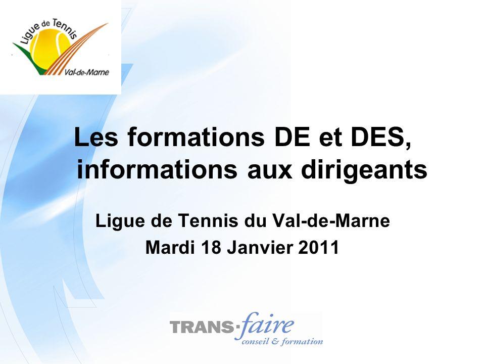 Les formations DE et DES, informations aux dirigeants