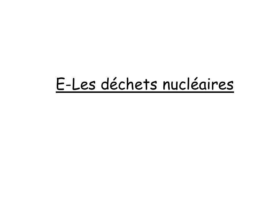 E-Les déchets nucléaires
