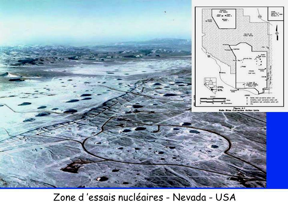 Zone d 'essais nucléaires - Nevada - USA