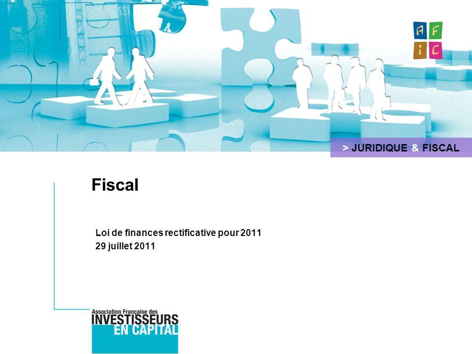 Loi de finances rectificative pour 2011 29 juillet 2011