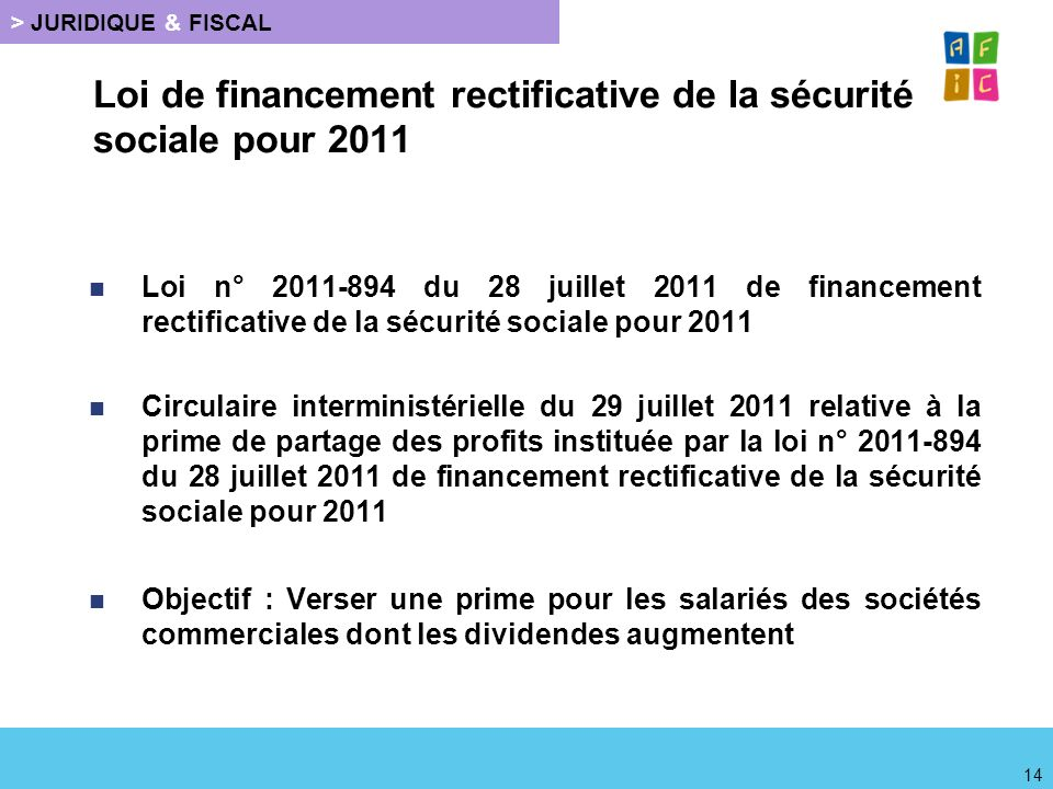 Loi de financement rectificative de la sécurité sociale pour 2011