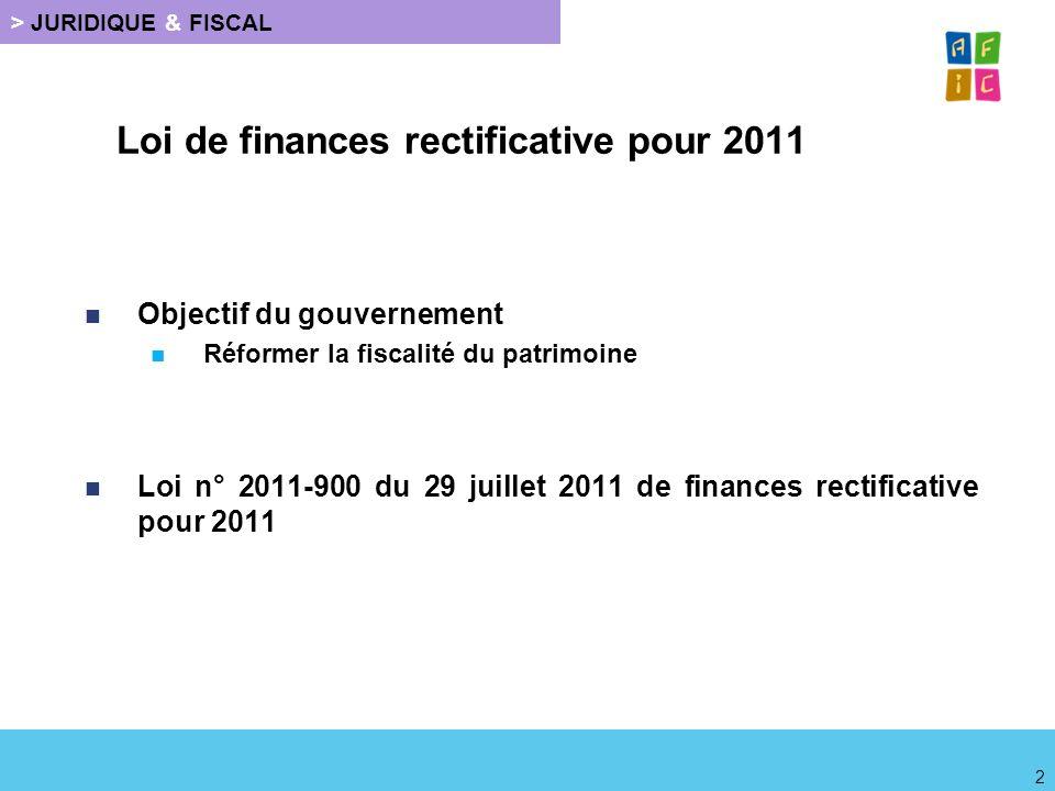 Loi de finances rectificative pour 2011