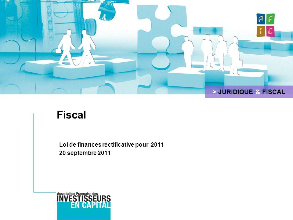 Loi de finances rectificative pour 2011 20 septembre 2011