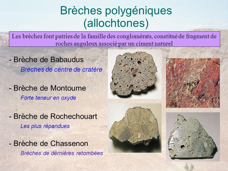 Brèches polygéniques (allochtones)