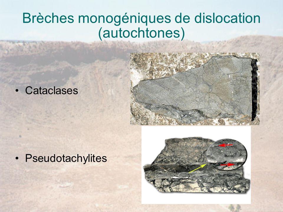 Brèches monogéniques de dislocation (autochtones)