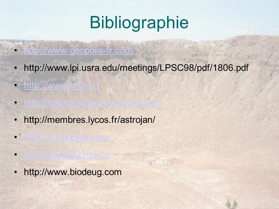 Bibliographie http://www.geopolis-fr.com