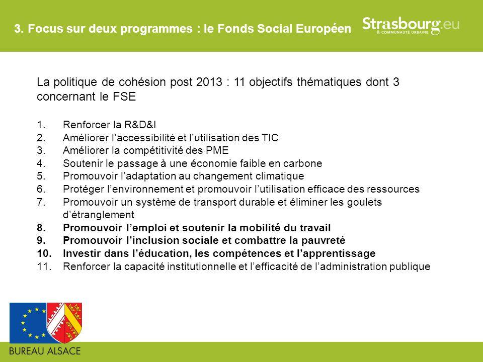 3. Focus sur deux programmes : le Fonds Social Européen