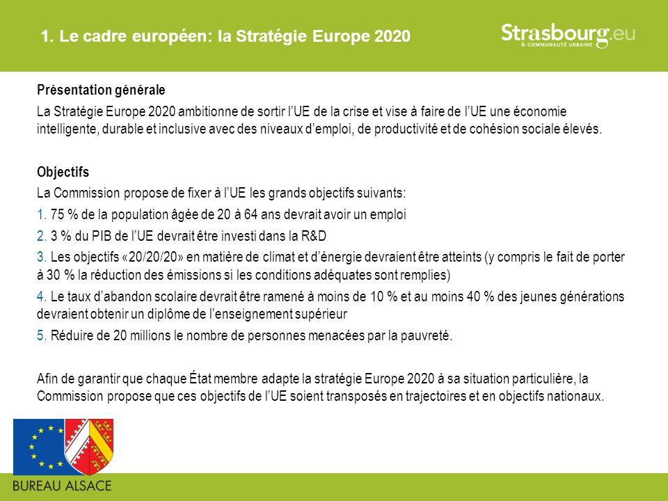 1. Le cadre européen: la Stratégie Europe 2020