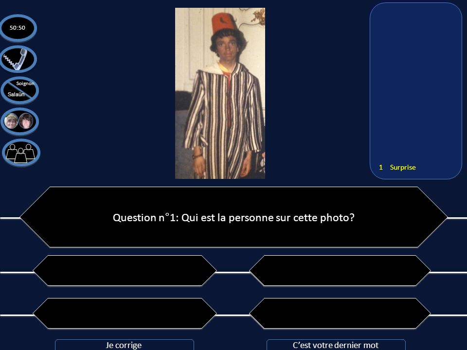 Question n°1: Qui est la personne sur cette photo
