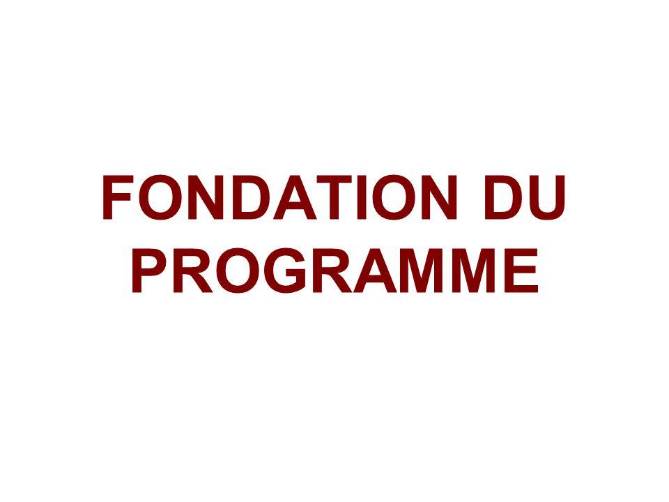FONDATION DU PROGRAMME