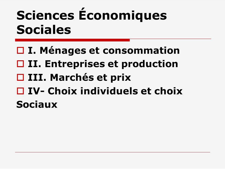 Sciences Économiques Sociales
