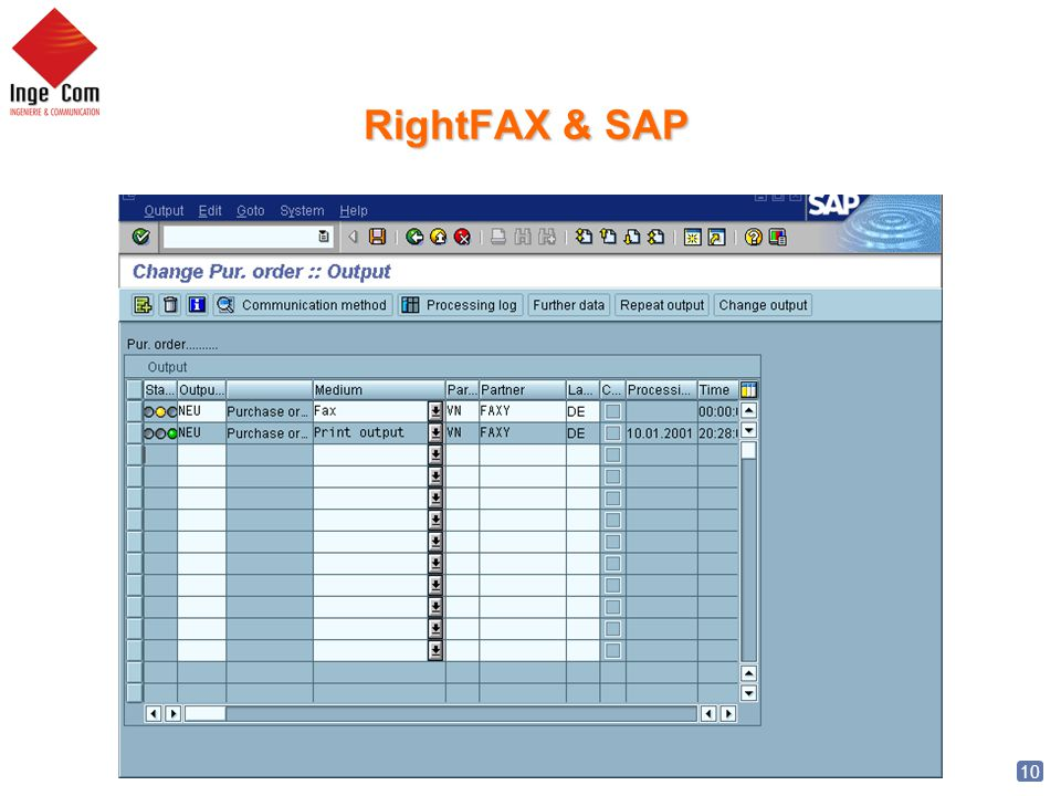 RightFAX & SAP