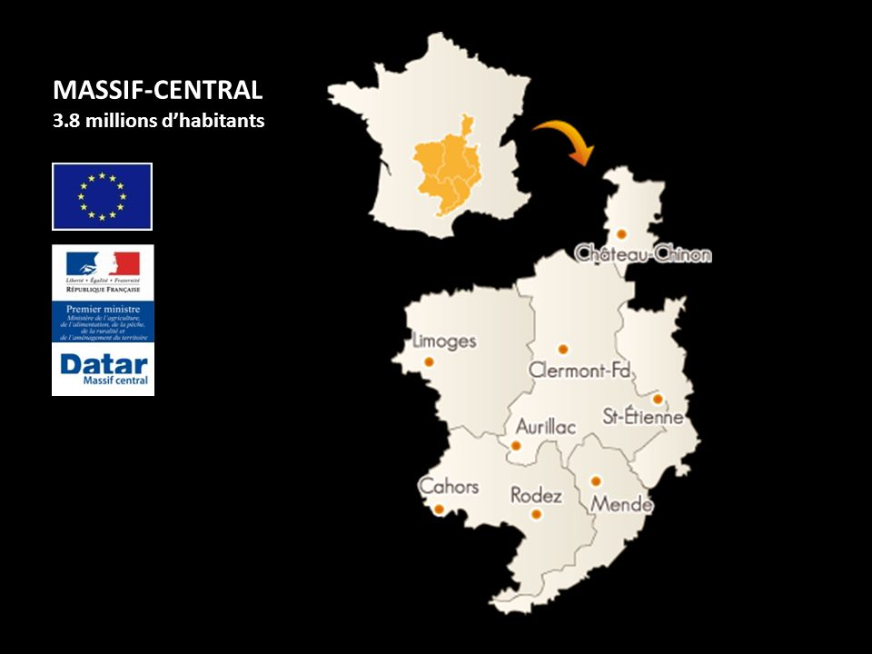 MASSIF-CENTRAL 3.8 millions d'habitants