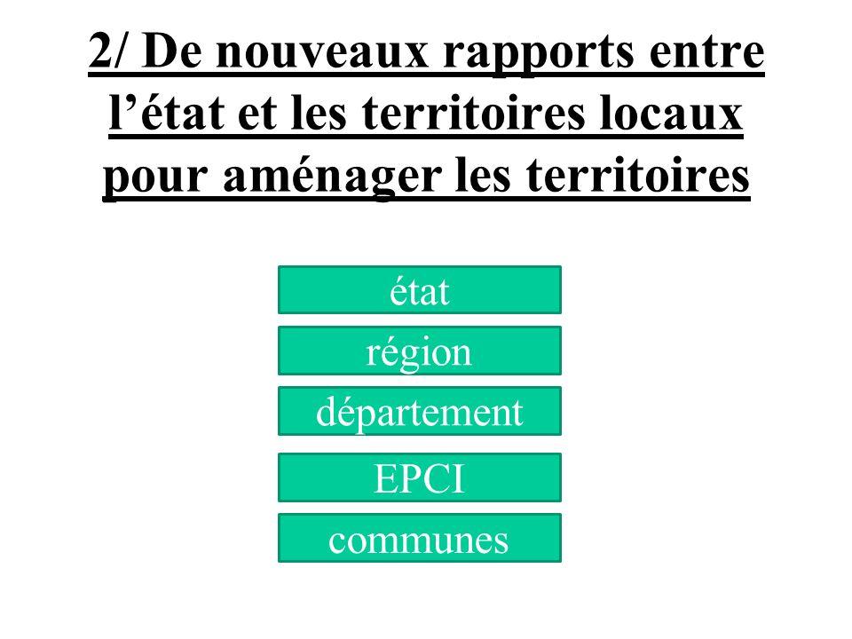 2/ De nouveaux rapports entre l'état et les territoires locaux pour aménager les territoires
