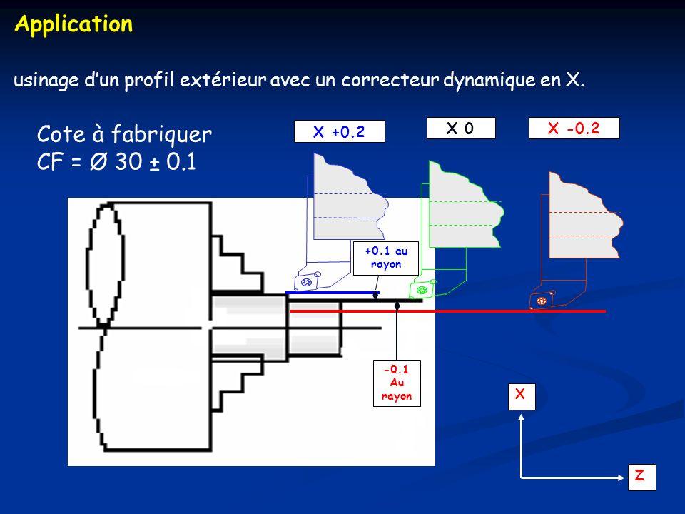 Application Cote à fabriquer CF = Ø 30 ± 0.1