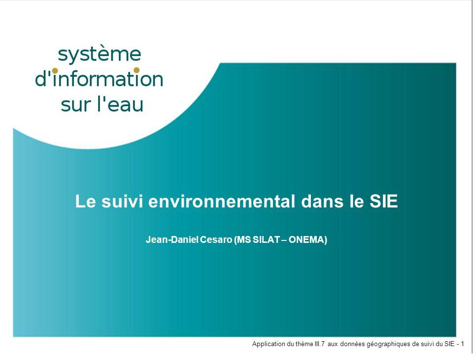Le suivi environnemental dans le SIE