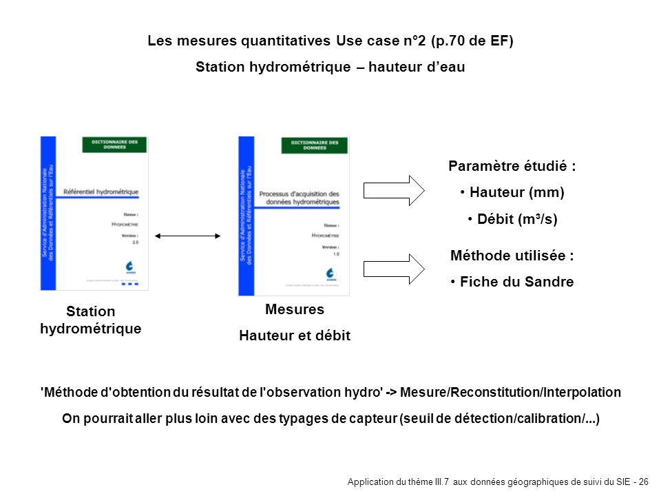 Les mesures quantitatives Use case n°2 (p.70 de EF)