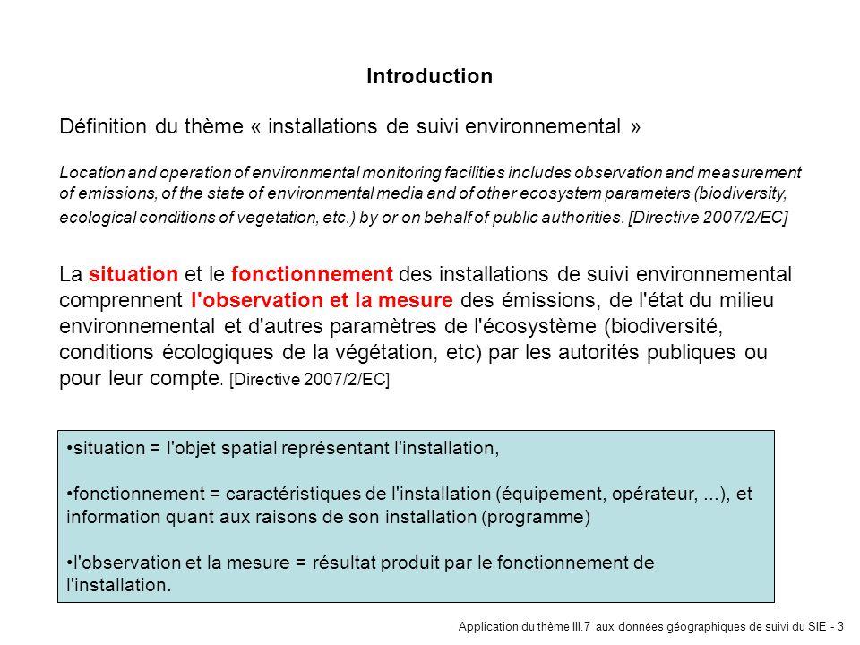 Définition du thème « installations de suivi environnemental »