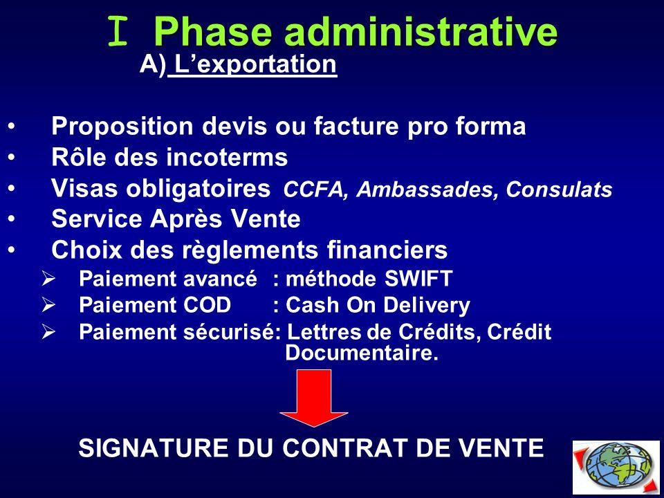I Phase administrative