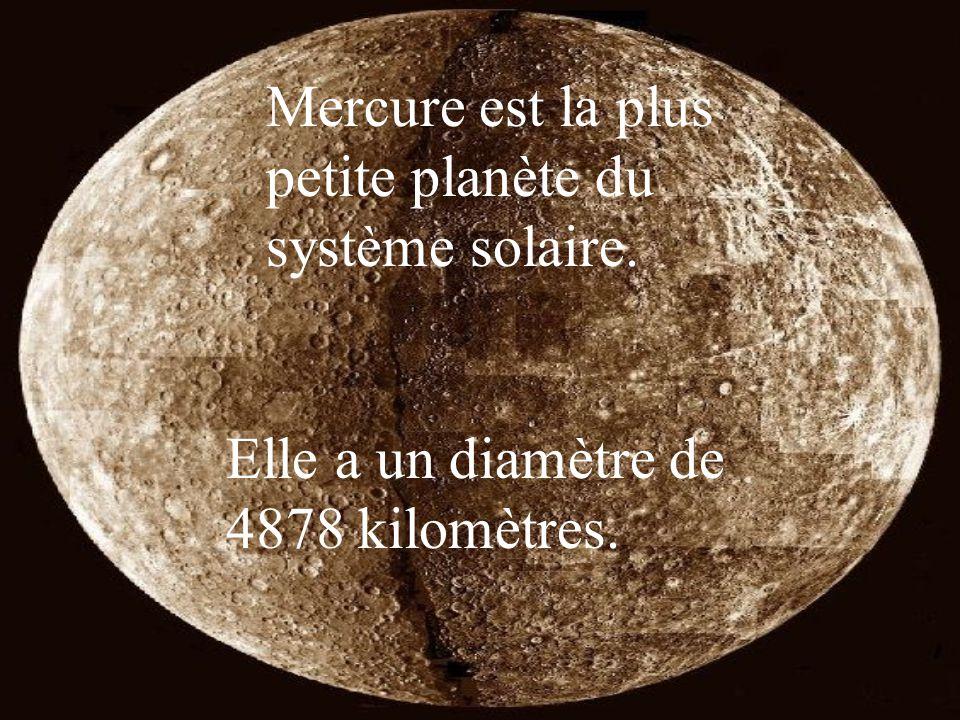 Mercure est la plus petite planète du système solaire.