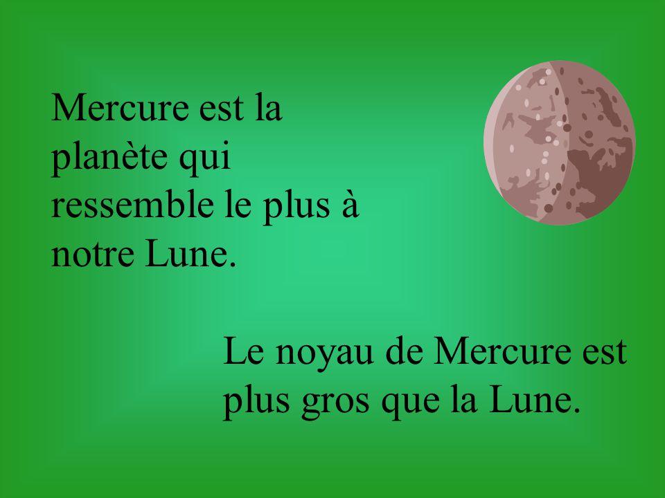 Mercure est la planète qui ressemble le plus à notre Lune.