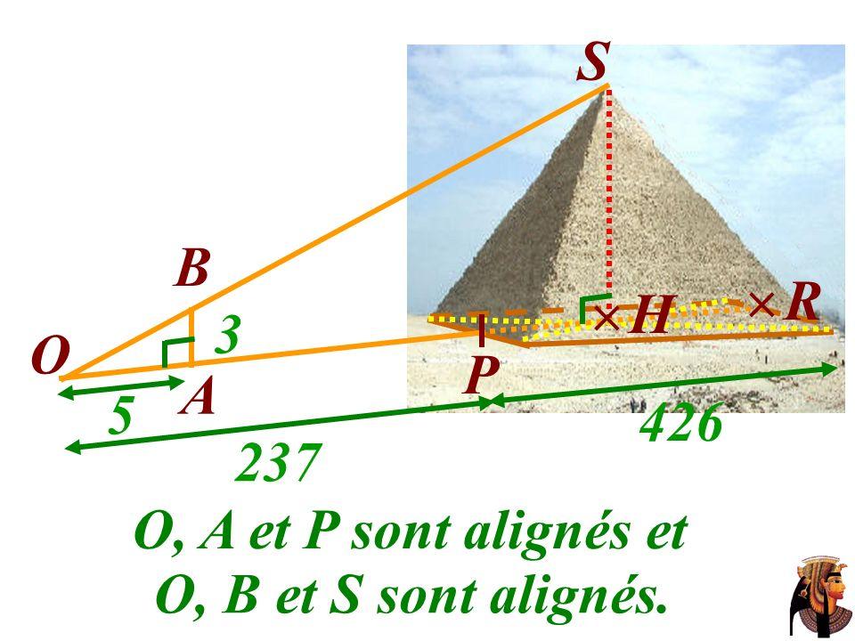 S B  R  H 3 O P A 5 426 237 O, A et P sont alignés et O, B et S sont alignés.