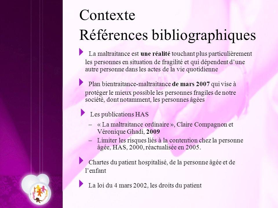Contexte Références bibliographiques