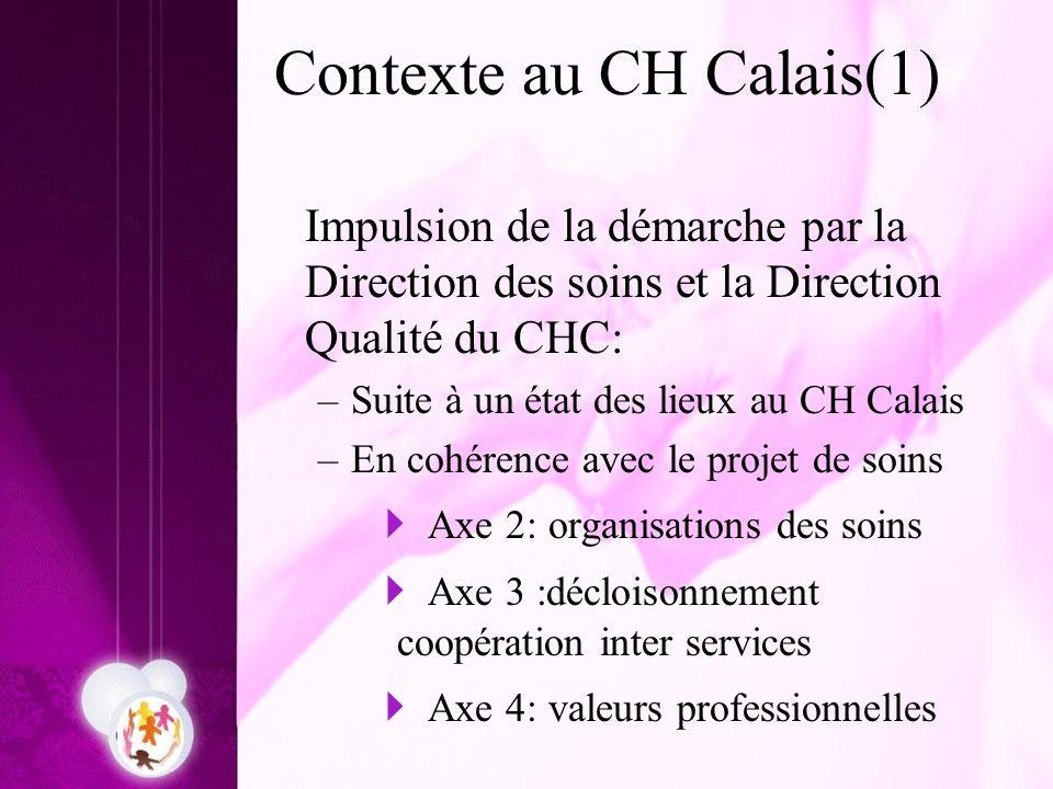 Contexte au CH Calais(1)