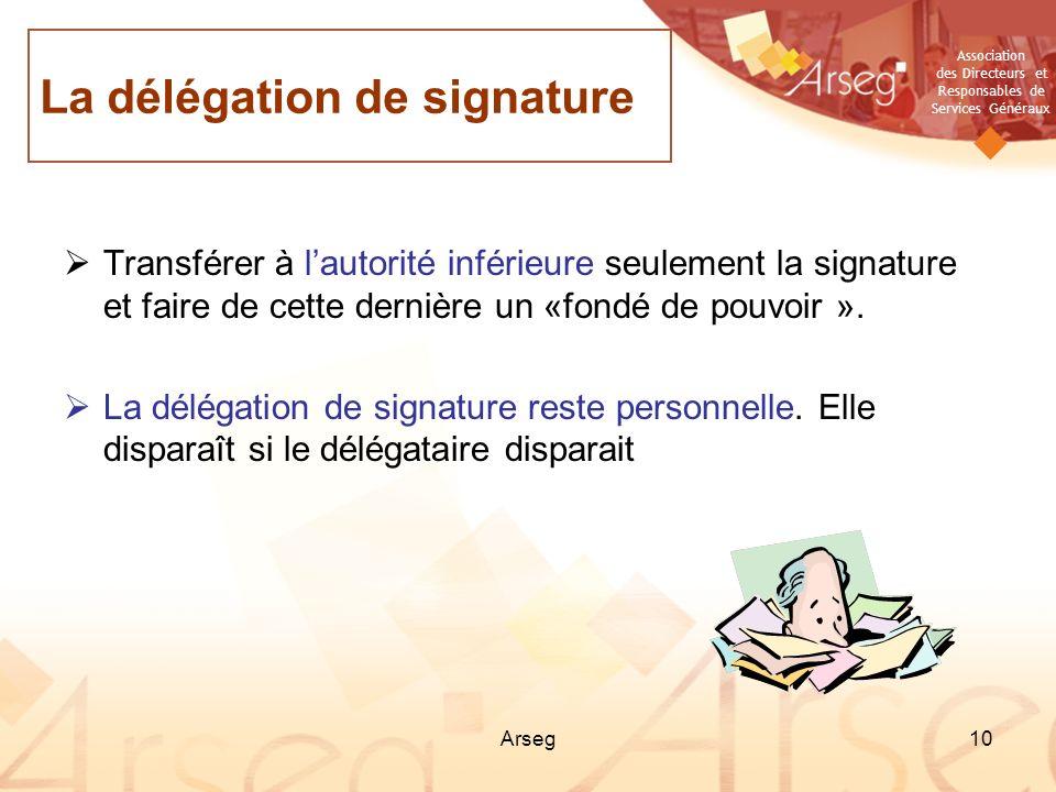 La délégation de signature