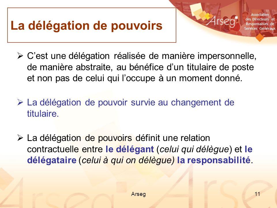 La délégation de pouvoirs