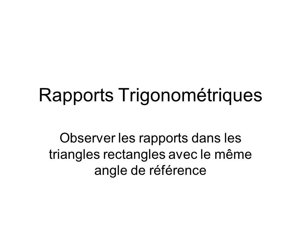 Rapports Trigonométriques