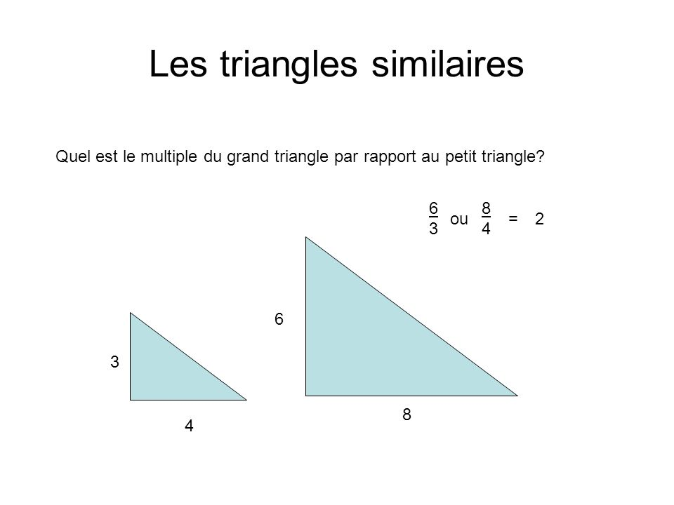 Les triangles similaires