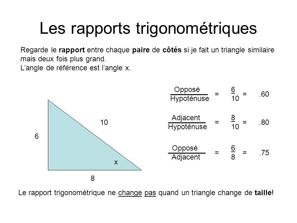 Les rapports trigonométriques