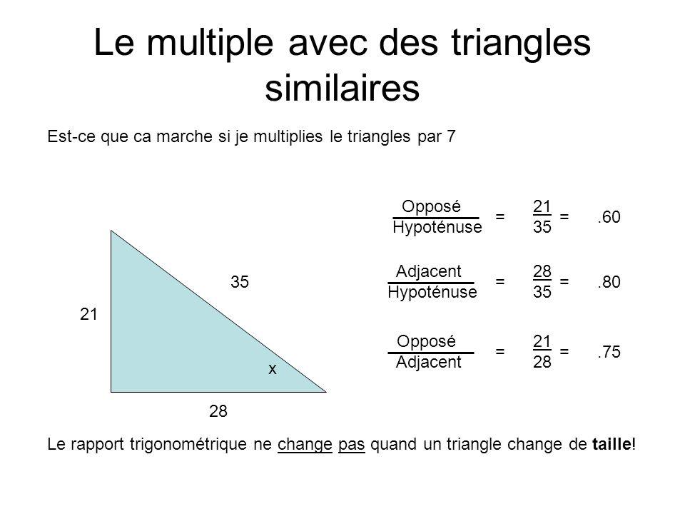 Le multiple avec des triangles similaires